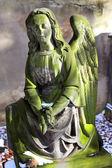 Historic Sculpture on the old Prague Cemetery, Czech Republic — Stockfoto
