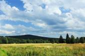 Beautiful Landscape from the summer Mountains Sumava in southern Bohemia, Czech republic — Stock Photo