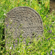 Tombstone on the old village Jewish Cemetery, Czech Republic — Stock Photo #72578413