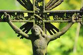 Jésus sur le vieux village, cimetière, République tchèque — Photo
