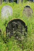 Tombstone on the old village Jewish Cemetery, Czech Republic — Stock Photo