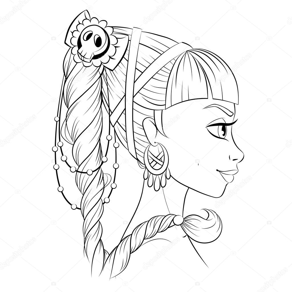 Line Art Xl 2000 : Abstract fashion girl woman vector black and white line
