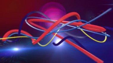 Kleurrijke abstracte lijnen — Stockvideo