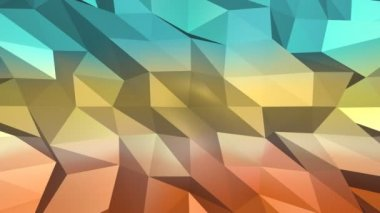 Low poly abstract background. — 图库视频影像
