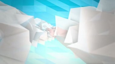 Low poly clouds and hearts — Stock Video