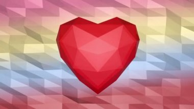 Low poly Valentine's card — Stock Video