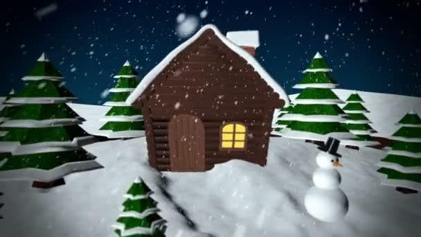 Bola de nieve de Navidad — Vídeo de stock