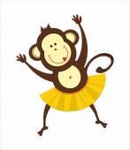 Dancing monkey — Stock Vector