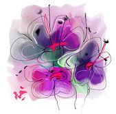 Ilustração de flor — Fotografia Stock