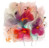 Flower illustration — Stock Photo