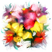 Watercolor floral texture — Stock Photo