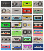 Set of cassette tapes — Foto de Stock