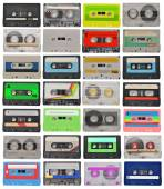 Set of cassette tapes — Stockfoto