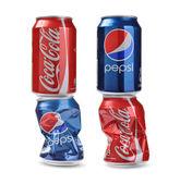 Coca-Cola vs Pepsi — Stock Photo