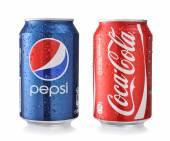 Coca-Cola and Pepsi Cans — Stock Photo