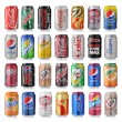 Постер, плакат: Set Of Various Brands Of Soda Drinks