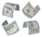 100 dollars bills — Stock Photo