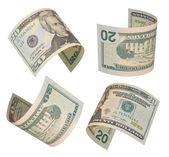 Twenty dollars bills — Stock Photo