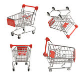 Shoping carts — Stock Photo