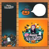 Happy Halloween brochure template. — Cтоковый вектор