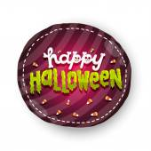 Happy Halloween badge — Stock Vector