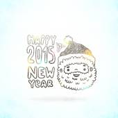 Happy New Year background with Santa Claus — Stock Vector
