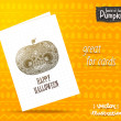 Day of The Dead colorful Happy halloween pumpkin — Stock Vector #53511695