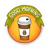 God morgon etikett — Stockvektor