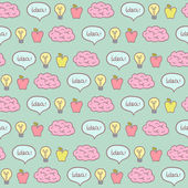 Brainstorm concept seamless pattern. — Stock Vector