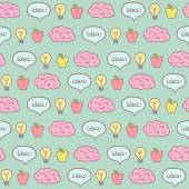 Brainstorm concept seamless pattern. — Stockvector