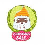 Mikulášské a vánoční prodej odznak — Stock vektor