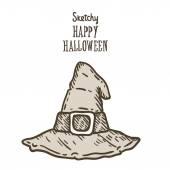 Happy Halloween witch hat — Stock Vector