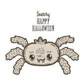 Happy Halloween spider — Wektor stockowy