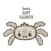 счастливый хэллоуин паук — Cтоковый вектор