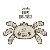 Happy Halloween spider — Stockvektor