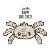 Happy Halloween spider — Stok Vektör