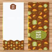 Hamburger banner background — Stock Vector