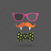 Hipster halloween man with glasses, mustache Royalty Free Stock Images — Stock Vector