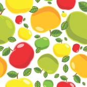 Vector apple background. Seamless pattern. Useful for packaging, printing on bags, backpacks, wallpapers, bedclothes... — Stock Vector