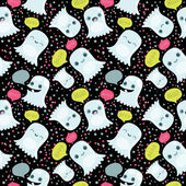 Ghosts seamless pattern — Stock Photo