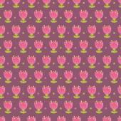 Raster tulips pattern — Stock Photo