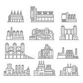 Industrial factory buildings — Stockvektor