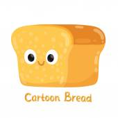 Hand drawn bread character — Stock Vector