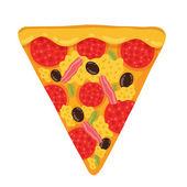 Slice of tasty pizza — Stock Vector
