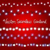 Seamless garlands pattern — Stock Vector