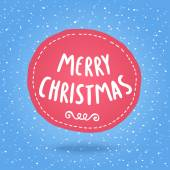 Hand drawn Merry Christmas label — Stock Vector