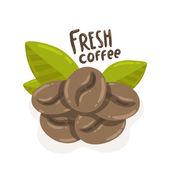 Cartoon coffee beans — Stock Vector