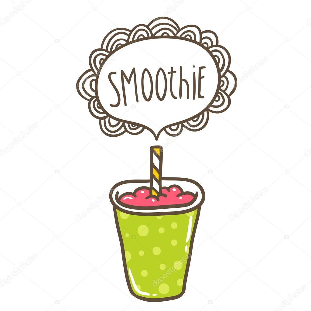 Stock Illustration Cute Cartoon Smoothie Doodle