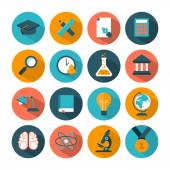 Set of modern education icons — Stock Vector