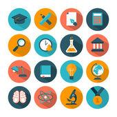Set of modern education icons — Stockvector
